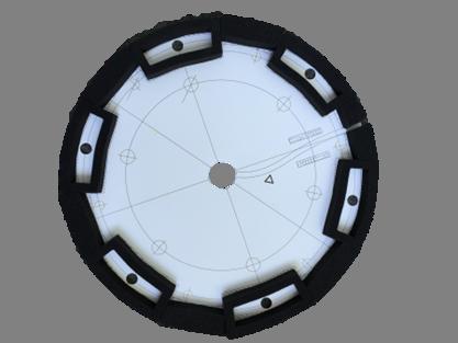 Unterlage mit Moosgummizuschnitten für VerbundAnker-System VAS2